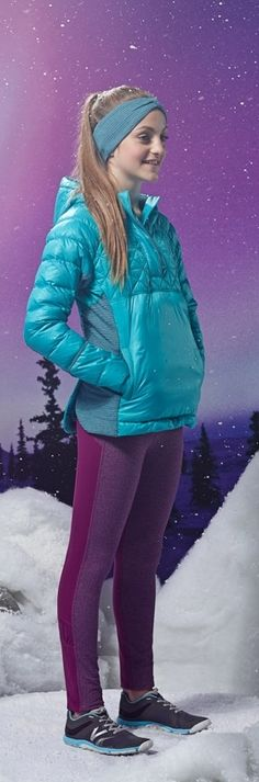 run layers to keep you toasty. | Warm'er Headband + Up To Snow Good Pullover + Summit Sprinter Pant