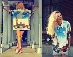Welcome to LONDON! (by Gina Vadana)  #shirt#lovely#london#vintageenashop