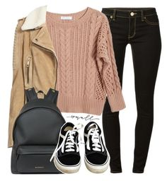 """""""Small town girl"""" by alexandra-provenzano ❤ liked on Polyvore featuring MICHAEL Michael Kors, Ryan Roche, Burberry, Givenchy and Vans"""