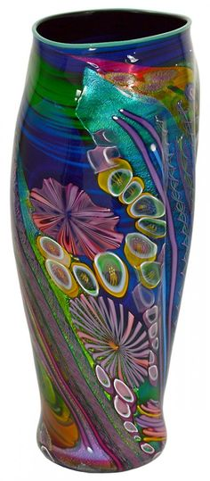 "Art-Glass Vessel by James Nowak - Signed Nowak and inscribed 51F12. Height 20"". (400/500) 