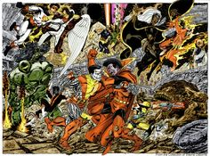 john byrne art | men vs imperial guard by byrne by ~namorsubmariner on deviantART