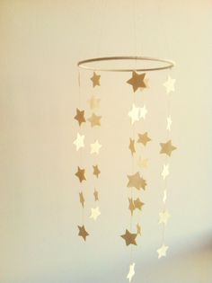 DIY Wrapping Gifts Inspiration : Baby Star Nursery Crib Mobile Any Color Custom by WhitehallFarmMD, Star Nursery, Nursery Crib, Baby Crib Mobile, Baby Cribs, Baby Mobiles, Gold Kindergarten, Diy Crib, Nursery Inspiration, Baby Decor