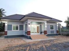 บ้านชั้นเดียว สไตล์โมเดิร์น ขนาดใหญ่ เน้นพื้นที่ 3 ห้องนอน 3 ห้องน้ำ Modern House Philippines, Architectural Design House Plans, Grey Houses, Shed, Outdoor Structures, Exterior, Architecture, Outdoor Decor, Home Decor