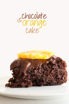 Vegan gluten free chocolate orange cake - minimaleats.com