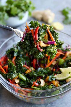 Thai Kale Salad with Cashews