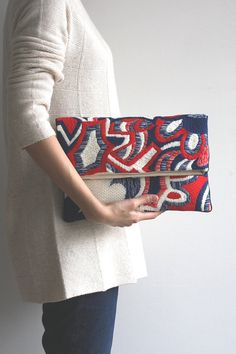 Needlepoint clutch/explosion 1501N82 by Cresus Artisan #style #fashion #needlepoint #bag #purse #design #modern #Spring #SS15 #Japan #Tokyo #handmade #needlearts #Spring #Summer #hand_sewn via @etsy #etsy