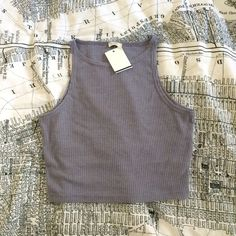 NWT Brandy Melville Ribbed Crop Top Ribbed high neck crop top. Brandy Melville Tops