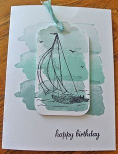 2018 Topic Watercolours {Topic Intro and Challenge Link} – Scrapbooking Masculine Birthday Cards, Birthday Cards For Men, Handmade Birthday Cards, Masculine Cards, Greeting Cards Handmade, Watercolor Birthday Cards, Watercolor Cards, Simple Watercolor, Watercolor Trees