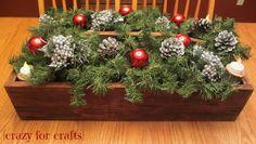 Rustic Christmas Centerpiece
