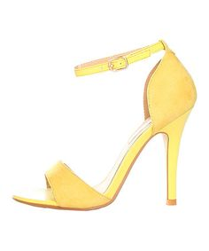 Take a look at this Giallo Stiletto Sandal by Ana Lublin on #zulily today!
