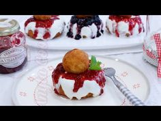 PAPANASI CU BRANZA DE VACI - Anyta Cooking - YouTube Romanian Desserts, Easy Desserts, Pancakes, French Toast, Cheesecake, Deserts, Muffin, Pudding, Sweets