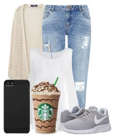 """""""#17"""" by oneandonlyfashion ❤ liked on Polyvore featuring Violeta by Mango, Miss Selfridge, NIKE and Incase"""