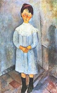 Bambina in azzurro - Amedeo Modigliani