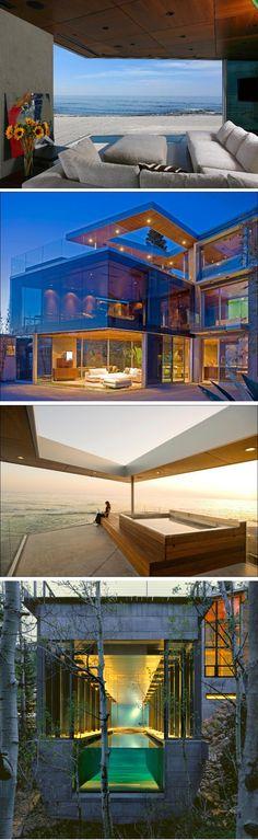 All Glass, Modular Beach Front Home, Seattle 2011