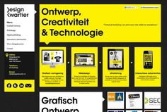 Look at this awesome black and yellow design. Those Dutch sure know how to make some good websites!