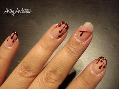 ArtsyArchitette Killer Dexter Bloody Blood Drip Nails