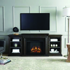 Extraordinary fireplace tv stand ashley that will impress you Electric Fireplace Entertainment Center, Electric Fireplace Tv Stand, Entertainment Centers, Entertainment Fireplace, Electric Fireplaces, Entertainment Wall, Wall Mounted Tv Unit, Chestnut Oak, Tv Unit Furniture