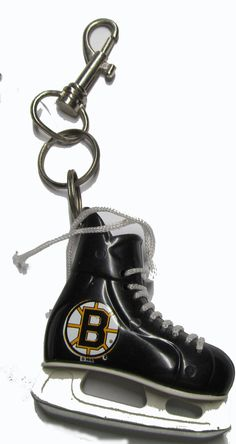 Boston Bruins hockey skate key ring