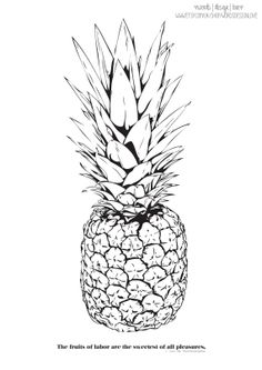 Pineapple Print The Fruits Of Our Labour by wordsdesignlove