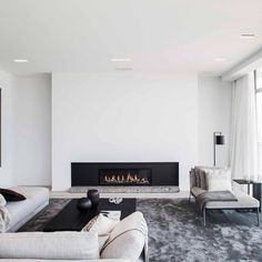 60 Modern Apartment With Minimalist Decoration Home Living Room, Interior Design Living Room, Living Room Designs, Living Room Decor, Home Room Design, Dream Home Design, House Design, Home Fireplace, House Rooms
