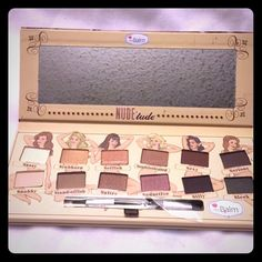 Make up  eyeshadow 12 color professional matte Eyeshadow palette with brush and cometic mirror . 12 colors. NWOT , The Balm Benefit Makeup Eyeshadow