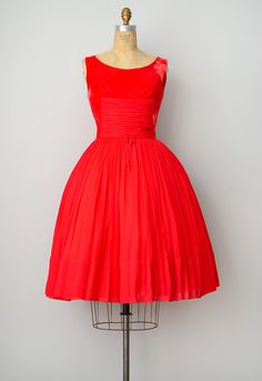 737675fc2e Shop Feminine Timeless French Style Inspired By Vintage Clothing. Red  Velvet DressDress ...