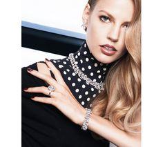 Elisabeth Erm photographiée par Katja Rahlwes dans la série Des Diamants Sinon Rien du numéro de décembre 2013/janvier 2014 de Vogue Paris