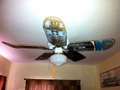 DIY Skateboard Ceiling Fan