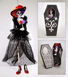 Halloween Shopaholic: Shiny and Pretty Day of the Dead Halloween Ornaments
