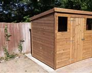 7x6 pent c tanalised wood garden shed