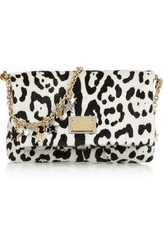 Dolce & Gabbana | Animal-print calf hair shoulder bag | NET-A-PORTER.COM - StyleSays