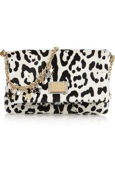 Dolce & Gabbana|Animal-print calf hair shoulder bag|NET-A-PORTER.COM - StyleSays