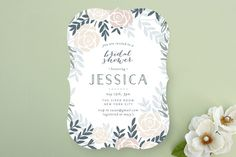Fantasy Floral Bridal Shower Invitations by Phrosne Ras at minted.com