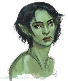 kiikiibee:  Put a little color on my half-orc paladin~