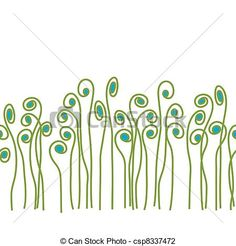Illustration about This is a scalable seamless vector pattern of whimsical fiddle fern. Illustration of vectorial, image, fern - 22838595 Logo Images, Art Images, Fiddle Fern, Curve Design, Image Fun, Medical Illustration, Art Icon, Tile Art, Of Wallpaper