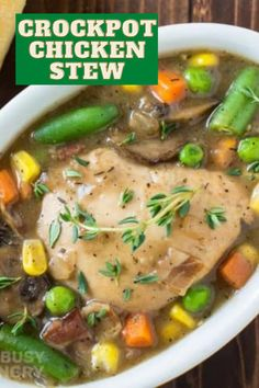 Crock pot Chicken Stew made with Guinness Beer and veggies Guinness Beef Stew, How To Thicken Sauce, Cooking With Beer, Potato Puree, Best Slow Cooker, Mixed Vegetables, Crock Pot, Food To Make, Dinner Recipes