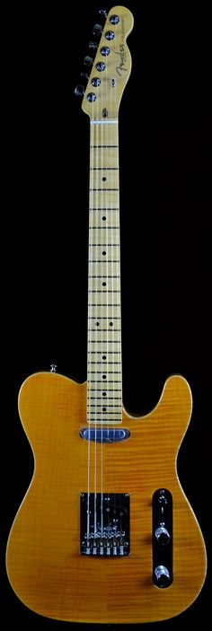 Wild West Guitars : Fender Select Carved Maple Top Telecaster in Amber