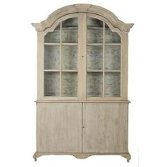 Arched French Country Display Hutch