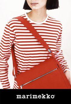 Marimekko red canvas bag.