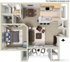 Bedrooms: 1Sq. Ft.: 761 Bathrooms: 1Deposit: $200 719 Carrington Square 5959 South Cougar Lane, Kearns, UT