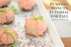 Adorable DIY pumpkin donuts from Shrimp Salad Circus. Such a cute and easy fall craft! #BakeryBecause #GiveBakery