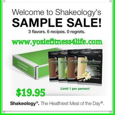 See for yourself why I LOVE my ShakeO, my fave Vanilla,  then chocolate then greenberry, and with this sampler you get to taste all 3, order yours at www.yosiefitness4life.com