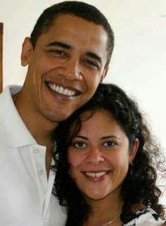 President Obama and his sister.