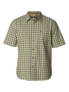 quiksilver, Men's Lennox Head Short Sleeve Shirt, Peridot (glv0)