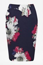French Connection £75 http://www.houseoffraser.co.uk/French+Connection+Wilderness+bloom+pencil+skirt/202929090,default,pd.html