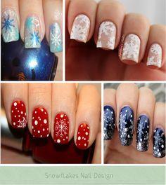 snowflakes nail designs