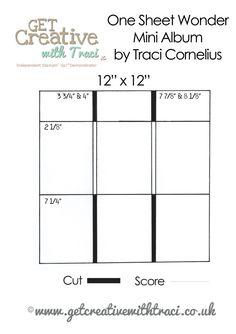 Mini album da un unico foglio - struttura One sheet wonder minialbum Get creative with Tracy