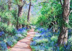 Bluebells – Kit Domino Art: Savill Garden, Domino Art, Artwork Display, Acrylic Art, Landscape Art, Perfect Place, Still Life, Country Roads, Kit