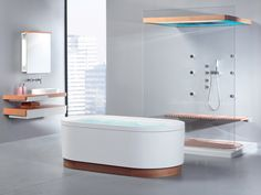 Majestic 13 Unique Bathtub Design Ideas For Modern Bathroom Decoration Unique bathtub design ideas will make your bathroom cooler. Modern bathroom designs will certainly feature a contemporary design so that all the eleme. Bathroom Photos, Modern Bathroom Decor, Modern Bathroom Design, Bathroom Interior Design, White Bathroom, Contemporary Bathrooms, Bathroom Ideas, Contemporary Design, Bathroom Wallpaper