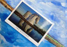 Watercolour & collage.